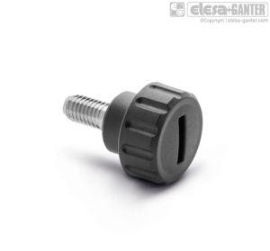 BT-AV-p Fluted grip knobs threaded stud