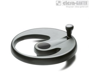 EMW+IEL Monospoke handwheels revolving handle soft touch