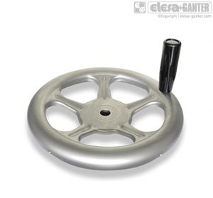GN 228-D Handwheels with revolving handle (only stainless steel a4)