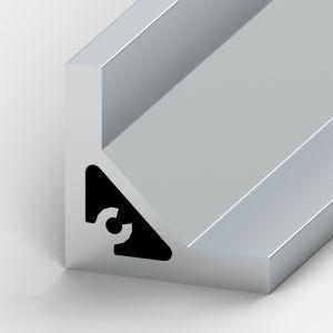 Perfil de alumínio Cantoneira 50x50x9mm
