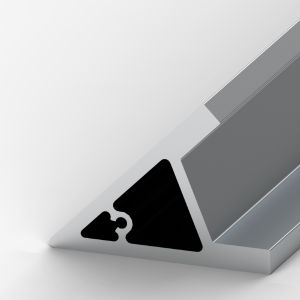 Perfil de alumínio Cantoneira 80x80x9mm 45º