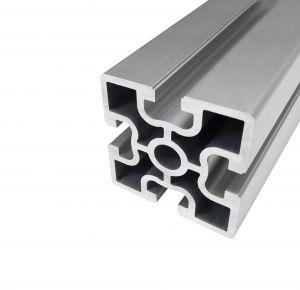 Perfil de alumínio 60x60 4 rasgos