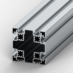 Perfil de alumínio 90x90 8 rasgos