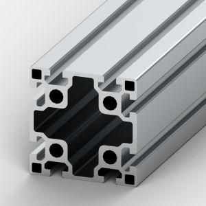 Perfil de alumínio 90x90 8 rasgos Reforçado