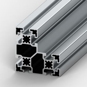 Perfil de alumínio 90x90L 8 rasgos
