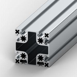 Perfil de alumínio 100x100 8 rasgos