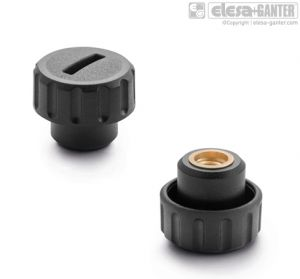 BT-AV-B Fluted grip knobs threaded blind hole