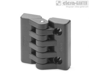 CFA-B-CH Hinges bosses with threaded hole and pass-through holes for cylindrical head screws