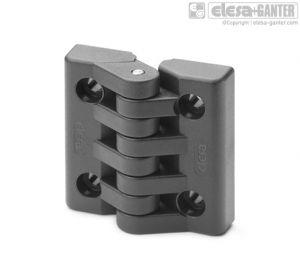 CFA-CH Hinges pass-through holes, cylindrical head screws