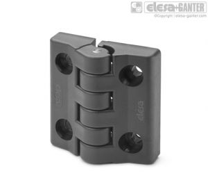CFA-F-CH Hinges with detent position at 90° pass-through holes, cylindrical head screws