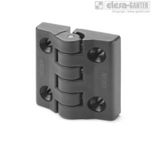 CFA-F-SH Hinges with detent position at 90° pass-through holes, countersunk-head screws
