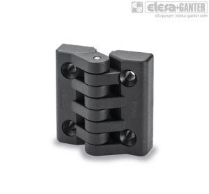 CFA-SH Hinges pass-through holes, countersunk-head screws