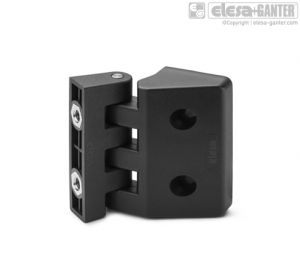 CFD-CH-B Hinge for thin frames pass-through holes, cylindrical head screws