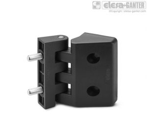 CFD-CH-p Hinge for thin frames bosses with threaded hole and threaded studs