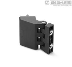 CFD-p-B Hinge for thin frames pass-through holes, countersunk-head screws