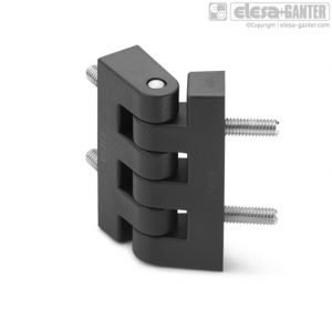 CFF-p Hinge for thin frames nickel-plated steel threaded studs