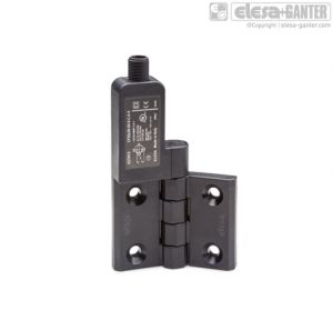 CFSQ-C-A-S Hinges with built-in safety switch axial connector, microswitch on the left