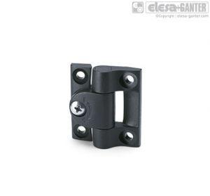 CFU. Hinges with adjustable friction black colour