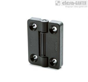 CFV-SH Detent hinges pass-through holes for countersunk head screws