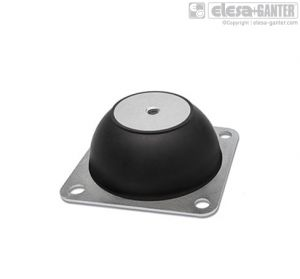DVE-B Rubber buffers mounts with flange square mounting flange