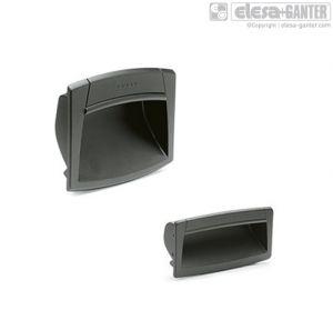 EPR-PF Flush pull handles grey-black colour
