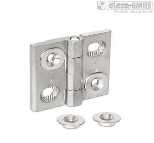 GN 127-A4 Hinges stainless steel a4