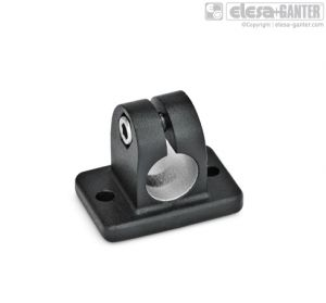 GN 145 Flanged connector clamps aluminum / with 2 mounting holes