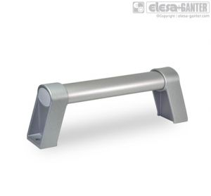 GN 334.1-ES Oval tubular handles aluminium, plastic coated, silver
