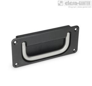 GN 425.8-NI Folding handles with recessed tray, stainless steel
