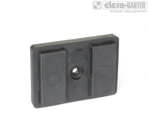 GN 57.2-A Retaining magnets with 1 female thread
