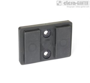 GN 57.2-D Retaining magnets with 2 bores