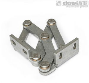 GN 7231-R Stainless Steel-Multiple-joint hinges fixing angle piece, right