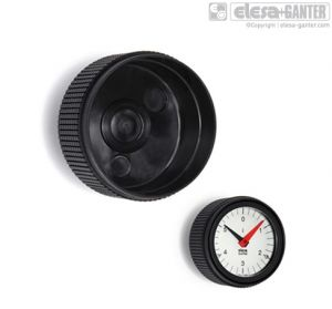 MBT-GXX Diamond cut knurled knobs for position indicators for gravity drive indicators