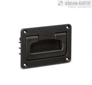 MPR Folding handles with recessed tray black or grey colour