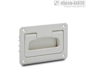 MPR-CLEAN Folding handles with recessed tray white colour