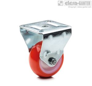RE.C6-PBL Castors for the general public with steel bracket fixed plate bracket, without brake