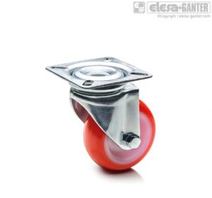 RE.C6-SBL Castors for the general public with steel bracket turning plate bracket, without brake