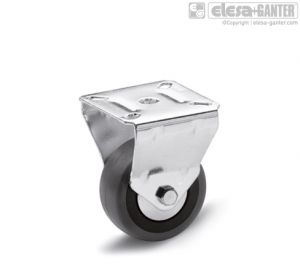 RE.C7-PBL Castors for the general public with steel bracket fixed plate bracket, without brake