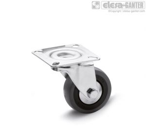 RE.C7-SBL Castors for the general public with steel bracket turning plate bracket, without brake