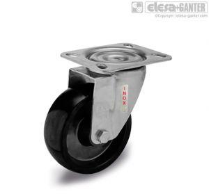 RE.F7-SBL-SST-N-HT Castors turning plate bracket, without brake, stainless steel