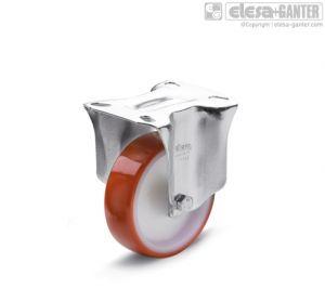 RE.FF-PBL-N Castors fixed plate bracket, without brake, steel