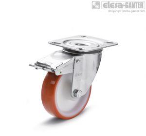 RE.FF-SBF-N Castors turning plate bracket, with brake, steel