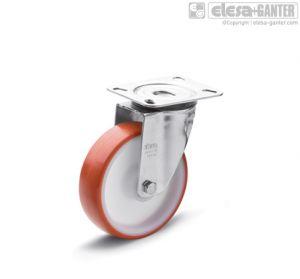 RE.FF-SBL-N Castors turning plate bracket, without brake, steel
