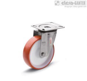 RE.FF-SBL-SST-N Castors turning plate bracket, without brake, stainless steel
