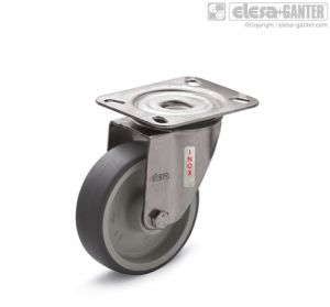 RE.G1-SBL-N-SST Castors turning plate bracket, without brake, stainless steel