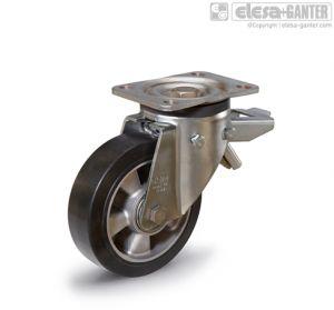 RE.G2-SSF-H Castors with bracket for medium-heavy loads turning plate bracket, with brake