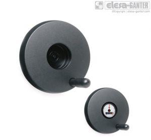 VDSC-GXX+I Handwheels for positions indicators with revolving handle, black-oxide steel boss