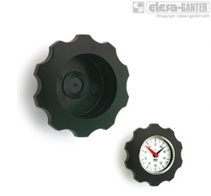 VHT-GXX-SST Lobe knobs for position indicators for gravity drive indicators, stainless steel boss