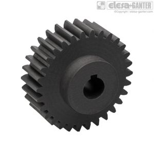 ZCL-1.5-K Spur Gears module 1.5, drilled hub with keyway