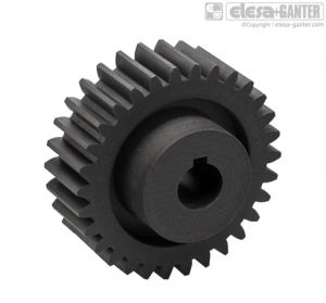ZCL-2.5-K Spur Gears module 2.5, drilled hub with keyway